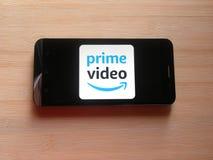 Video app för Amazon Prime arkivbild