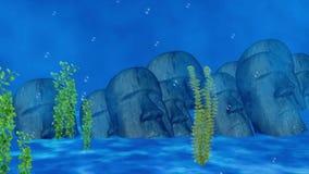 Archeology treasure underwater. Video of archeology treasure underwater royalty free illustration