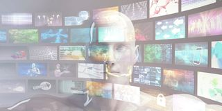 Video Archives Concept royalty free stock photo