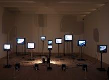 Video art installation Royalty Free Stock Photo