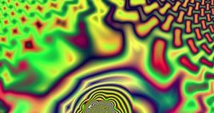 Video astratto di frattale con un modello ipnotico psichedelico variopinto illustrazione di stock