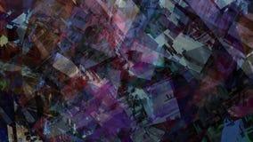 Video atmosferico geometrico di superficie del fondo della città futuristica urbana del paesaggio dell'estratto illustrazione di stock