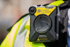 Video and Audio body camera worn by UK police officers.