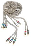 Video and audio cable Royalty Free Stock Photos