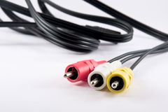 Video and audio cables plugs Stock Photography