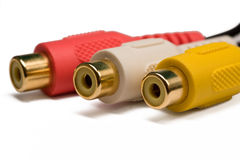 Video and audio connectors Stock Images