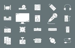 Video Audio Equipment Icons 02 vector illustration