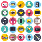 Video and Audio Flat Icon Set Stock Images