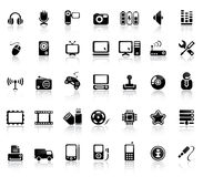 Video And Audio Icon Set Royalty Free Stock Images