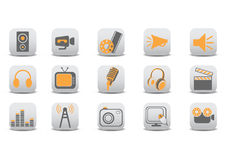 Video and audio icons Stock Image