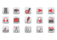Video and audio icons Royalty Free Stock Photo