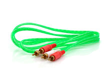 Video and audio jack cable Stock Photography