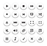 Video/Audio Player buttons Royalty Free Stock Photos