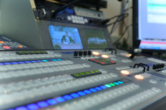 Video and audio production switcher Stock Photography