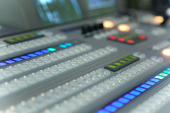Video and audio production switcher Stock Photos