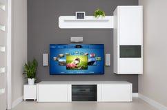 Video auf Anfrage VOD-Service im Fernsehen Lizenzfreies Stockfoto