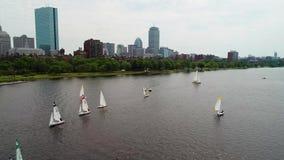 Video auf Lager der Boston-Gemeinschaftsbootfahrt stock footage