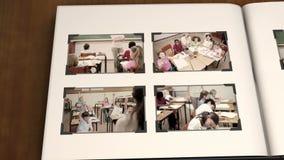 Video av barn på skolan arkivfilmer