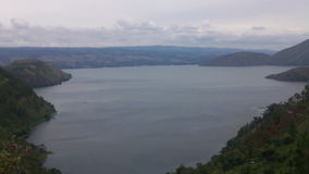 Video av sjön Toba, norr Sumatra, Indonesien. stock video