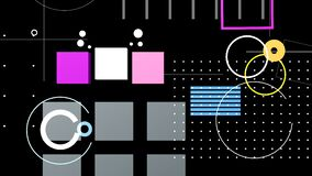 Video-background with colorful geometric shapes