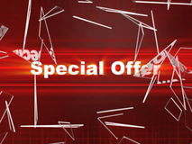 Video background with effects and Special Offer stock video footage