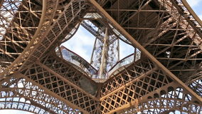 Video background with Eiffel tower structure stock video footage