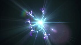 Video Background 1318: Glowing Plasma Sparks And Flickers With Electricity
