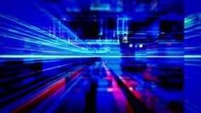 Traveling Through A Maze Of Flickering High Energy Light Streaks