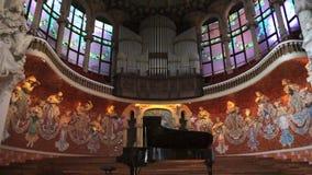 Barcelona Music Hall Organ Music stock footage