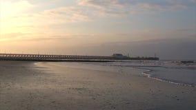 Beach Sunset landscape. Video of Beach Sunset landscape stock footage