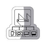 video beam icon stock Royalty Free Stock Image
