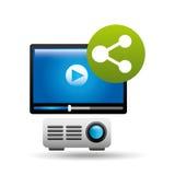 Video beam player share design Stock Image