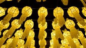 Beautiful lanterns in loy krathong festival of chiang mai thailand