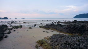Video Beautiful sunset evening scene if Andaman sea. Island beach in Ranong Thailand. Beautiful sunset evening scene if Andaman sea. Island beach in Ranong stock video footage