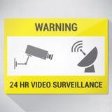 Video bevakning Arkivbild
