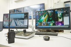 Video bevakningutrustning för säkerhet Fotografering för Bildbyråer