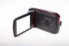Video bianco Blackground della videocamera portatile di HD fotografie stock libere da diritti