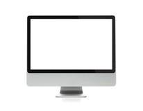 Video in bianco del computer con il percorso di residuo della potatura meccanica Fotografie Stock