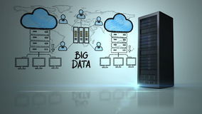 Video of big data network stock illustration