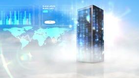Video of big data network vector illustration