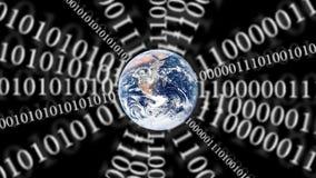 Video: Binäres Netz von Planetenerde stock footage