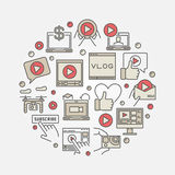 Video blog concept illustration Royalty Free Stock Photo