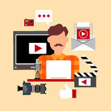 Video Blogger Blog Technology Concept Royalty Free Stock Photography