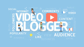 Video blogger concept. Royalty Free Stock Photo