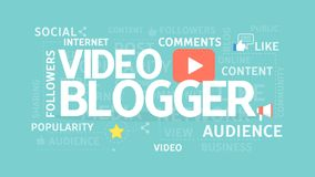 Video blogger concept. Royalty Free Stock Photography