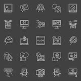 Video blogger icons set Royalty Free Stock Photography