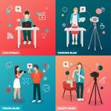 Video Blogging Design Concept Royalty Free Stock Photos