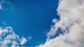 Video of blue sky with clouds. Timelapse stock footage