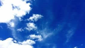 Video of blue sky with clouds. Timelapse Stock Image