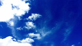 Video of blue sky with clouds. Timelapse Stock Photos
